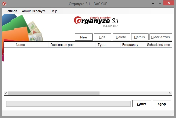 Organyze 3.1 BACKUP Screen shot
